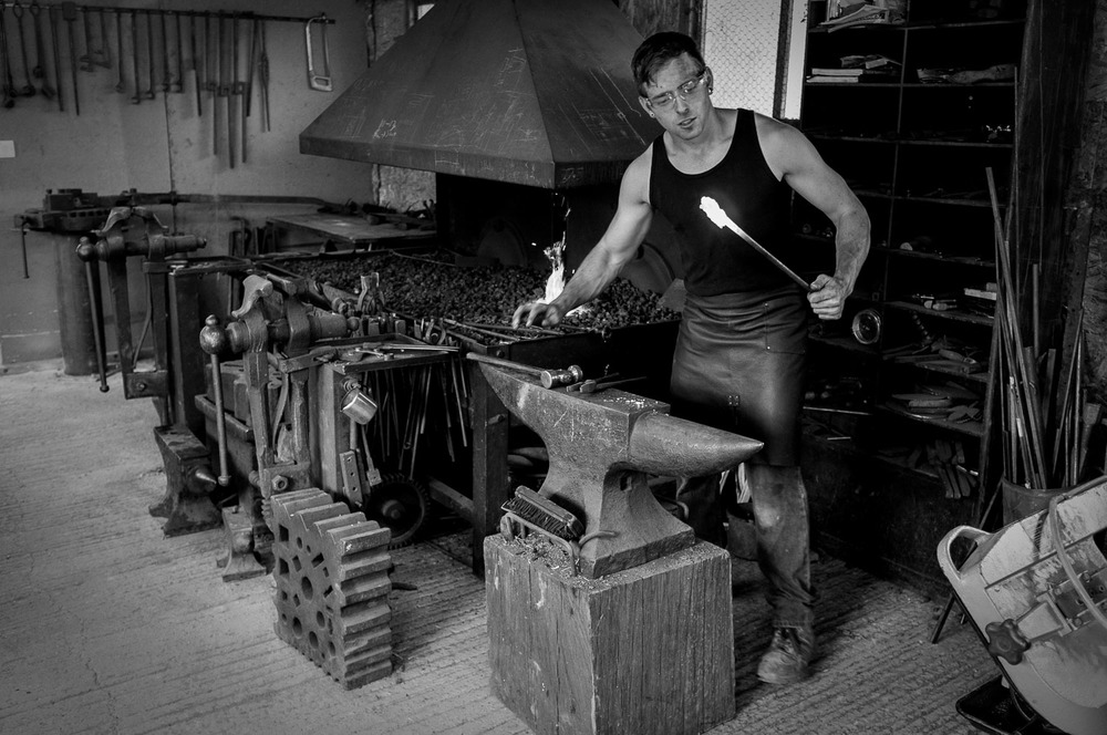 Michael Hart, blacksmith (click image for lightbox view / see more from this visit)