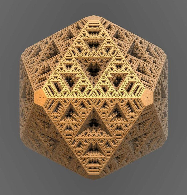 Figure 6:  A three-dimensional representation of a Mandebrot Set, or fractal.  The outcome of the fractal is at the same time a Merkabah and Metatron's Cube with multidimensional qualities combined with infinite fidelity of resolution.