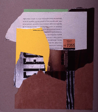 "profile of a man 1991 collage 18""24"""