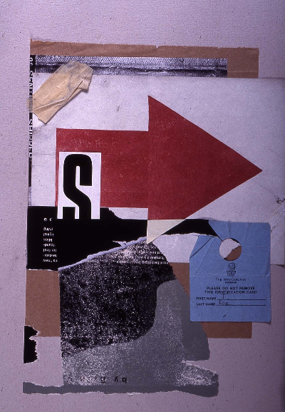 "this way 1991 collage 18""24"""