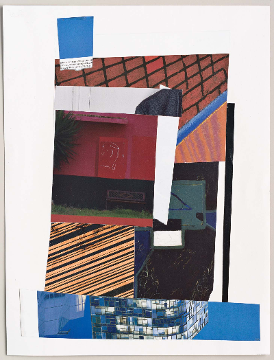 "high rise 2011 collage 9""x12"""