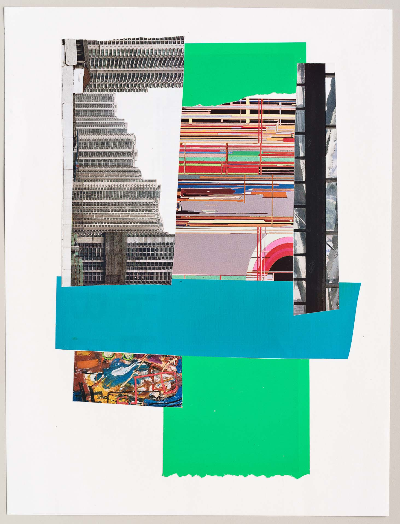 "stacked 2011     collage 9""x12"""