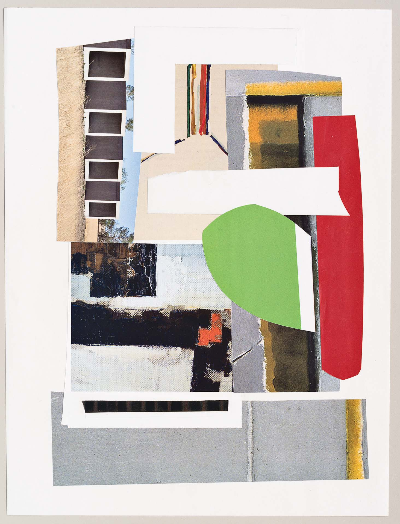 "lime pause 2011 collage 9""x12"""
