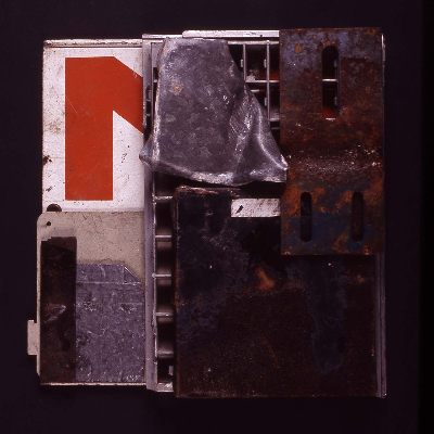 "ensamble 1993 mixed media 13""x12"""