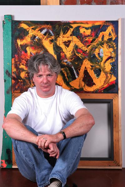 artist in studio 2003