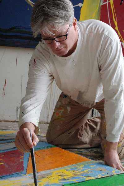 artist working in studio 2007