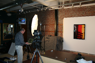 Tal Wilson photographer in studio 2006