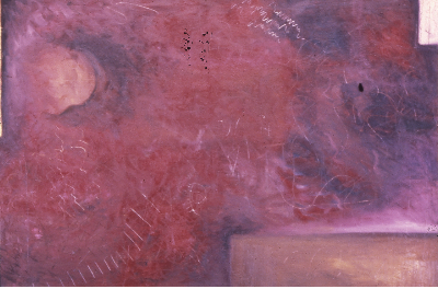 turmoil     5'x3' oil on canvas 1988