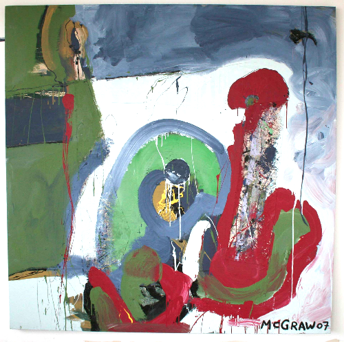 backflow     6'x6' paint on canvas 2007