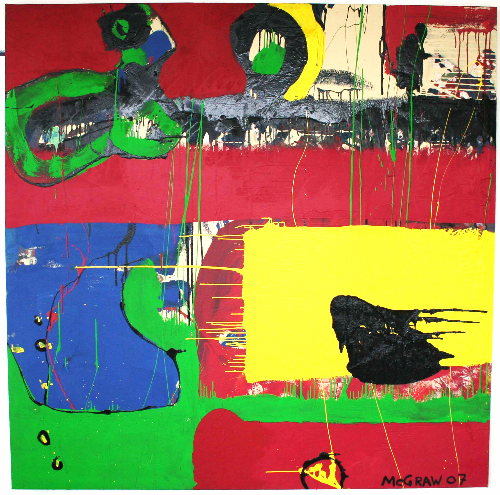primary     6'x6' paint on canvas 2007