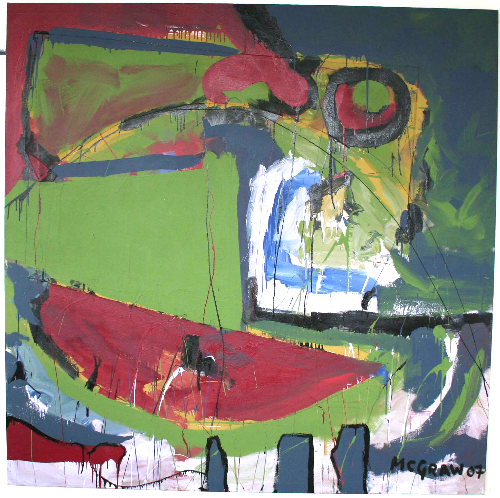 sail around     6'x6' paint on canvas 2007