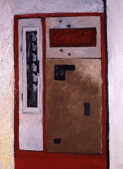 "coke machine     23""x33"" mixed media 1997"