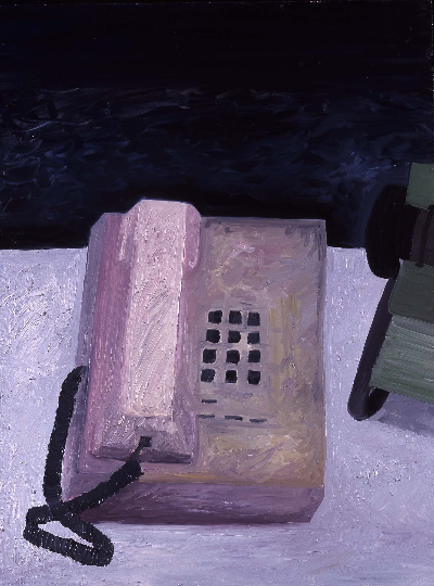 "teledex     23""x33"" mixed media 1997"