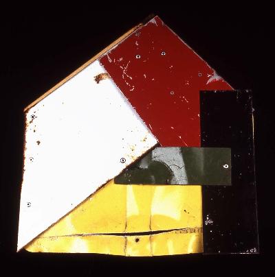 """house that jack built 1993 mixed media 14""""x12"""""""