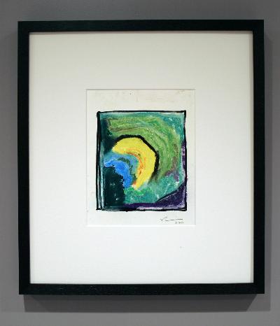 "sun & moon 2006 mixed media 9""x9"""