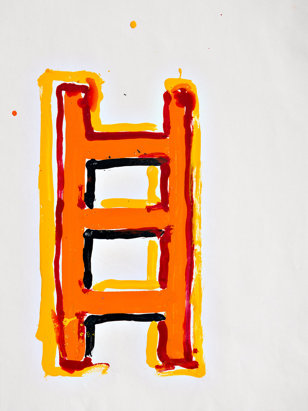 "Firehouse 9""x12"" paint on paper"