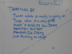 White board from MaRS residency
