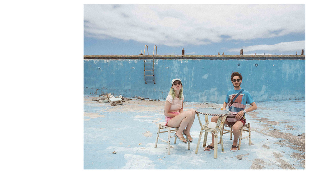 only lovers stay alive (series) - empty swimming pool couple