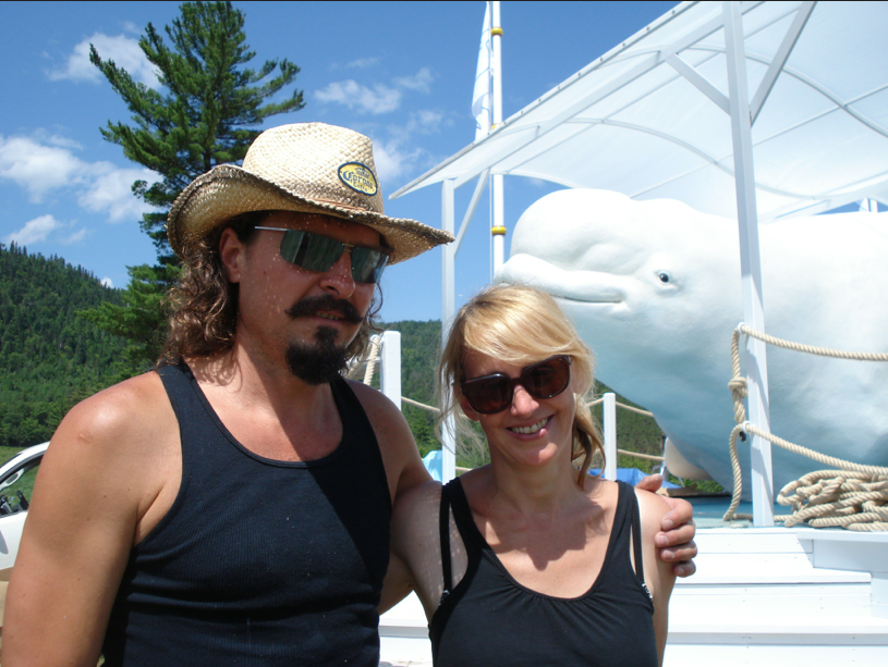 With my scenic painter on the Beluga site in Anse St. Jean, Qc.