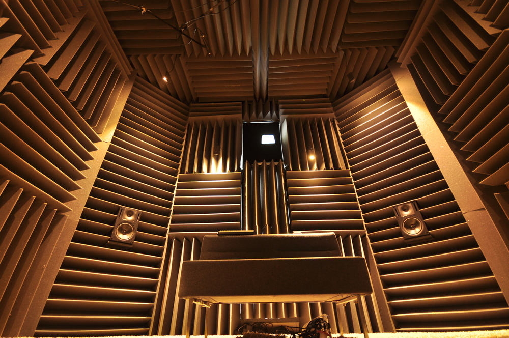 The Anechoic room in which the recordings took place