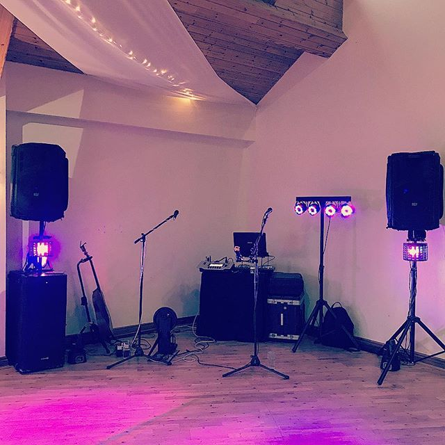 Modest set up for this evenings party, courtesy of the duo!