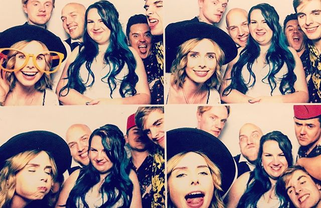 Photo booth fun with the bride and groom! 👰 🤵 🎸 🎵