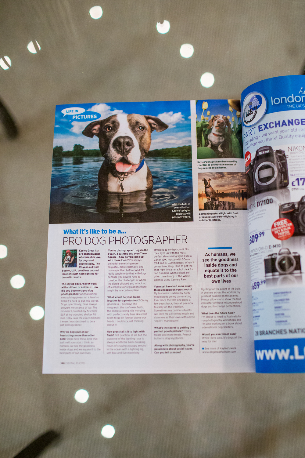 Article on Dog Breath Photography in Digital Photo Magazine