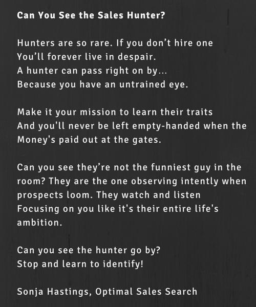 Sales Hunter Poem