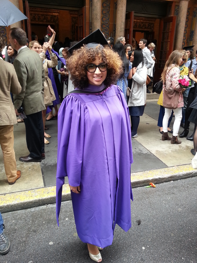 Stephanie Sosa in her NYU cap and gown!