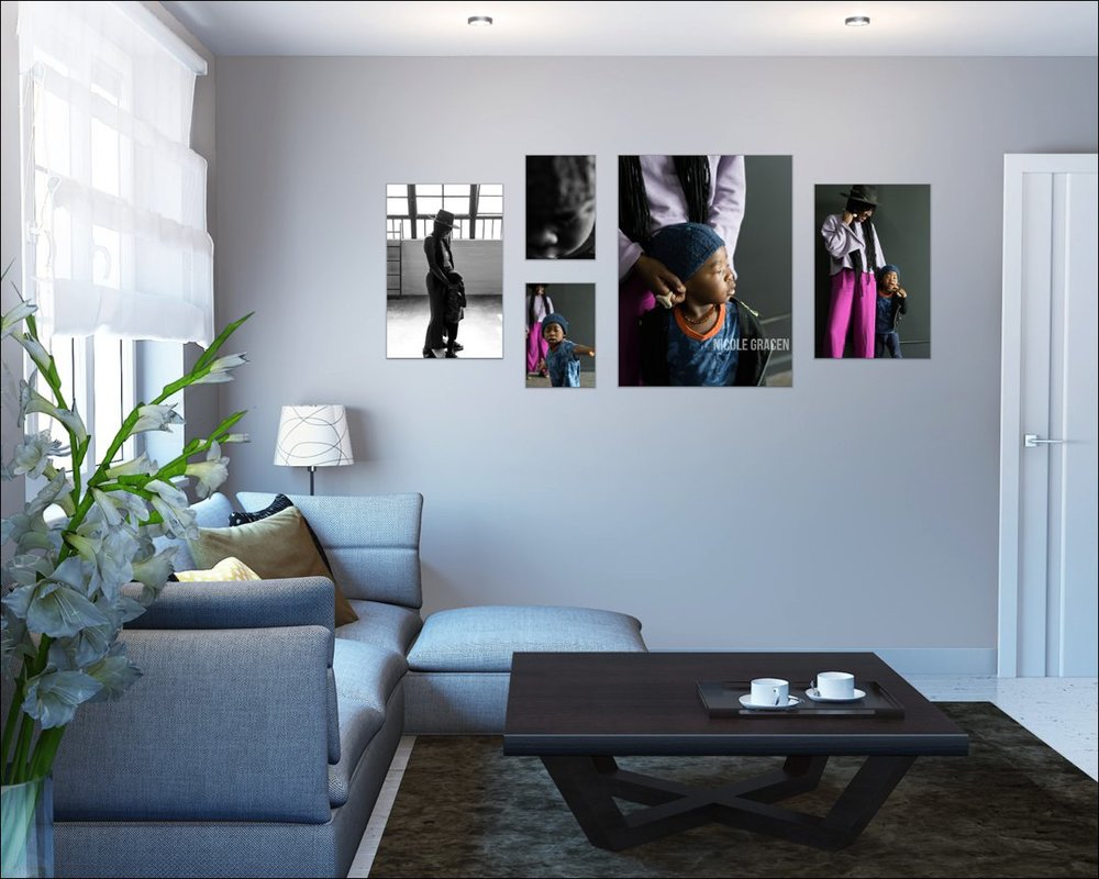 Photo wall galleries add a personal touch to any space.