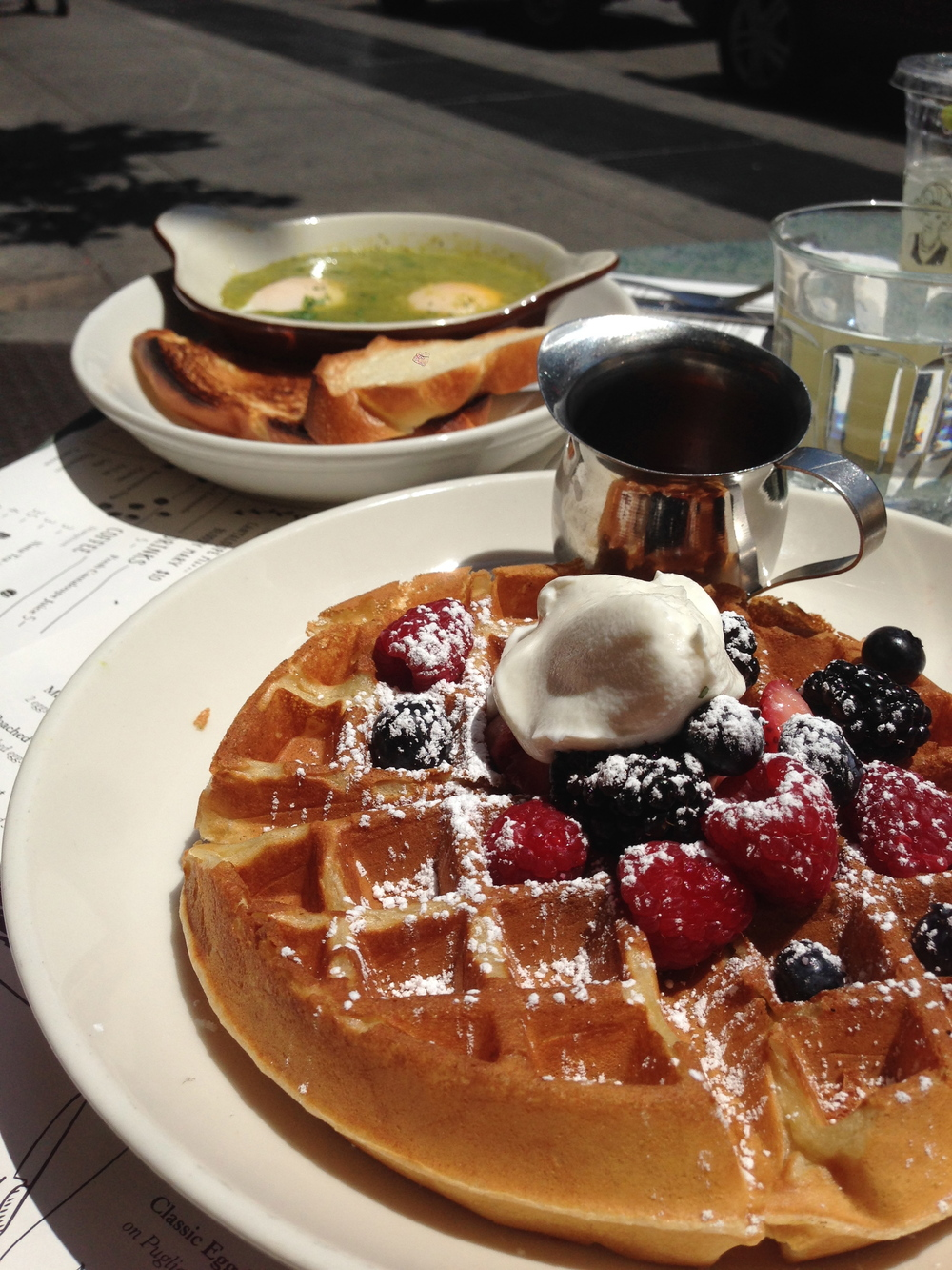 Rosewater Waffle with fresh berries