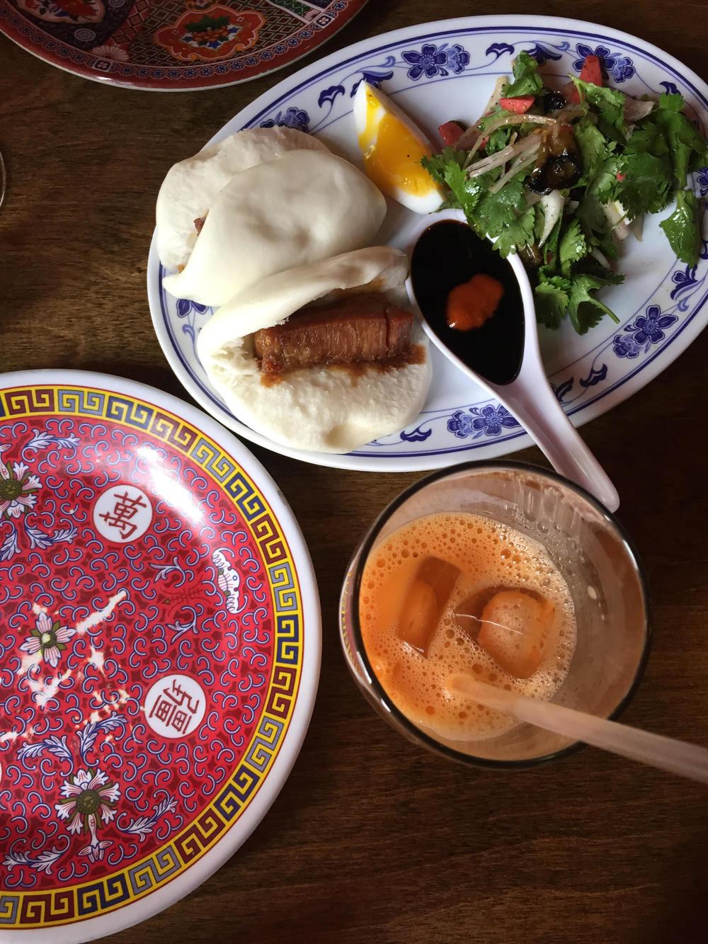 Thai Iced Tea + Pork Buns