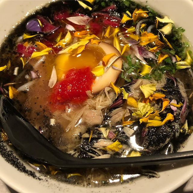 soup and runny egg heaven at @littletongnyc #littletong #noodle #soup #egg #eeeeeats #nyc #eater #feedfeed #f52grams #chicken #noodles #flowers