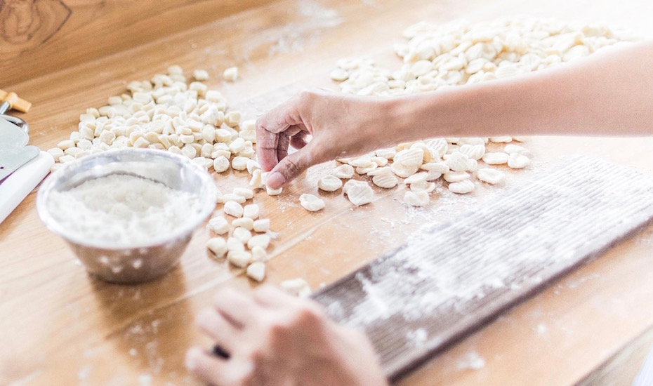 Making fresh gnocchi pasta   (photo by Alessandro Arcangeli)