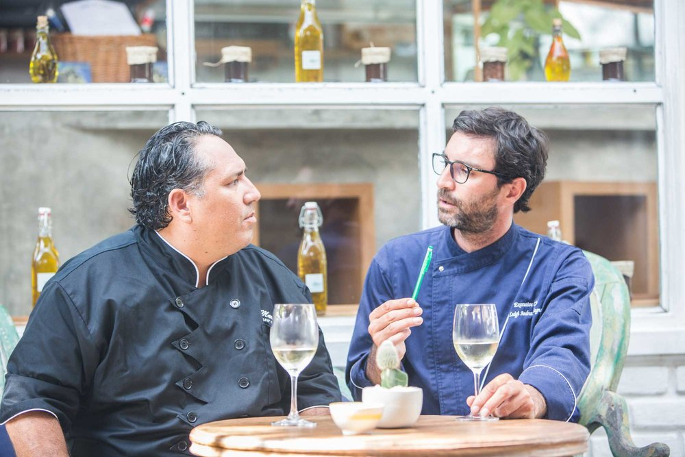 Executive Chefs Marco Cueva and Luigi Calcagno