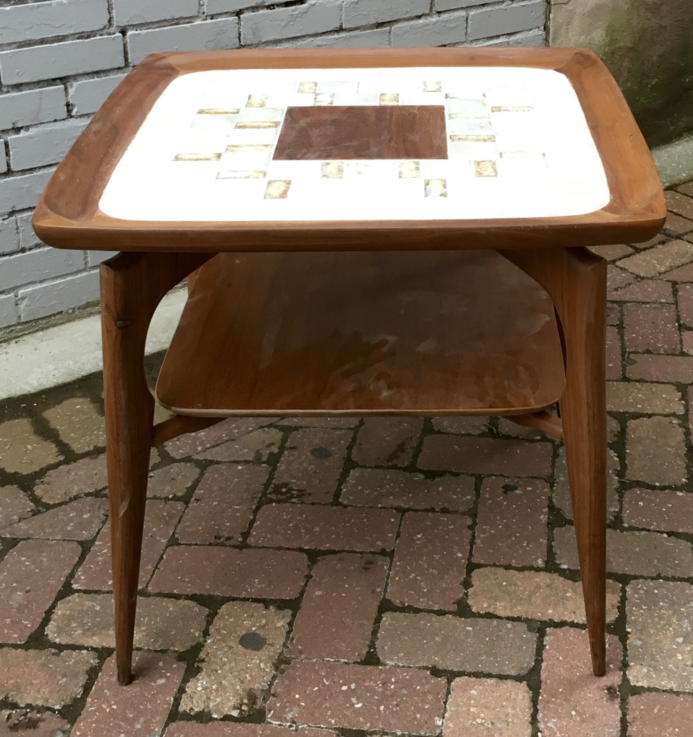 Danish Tile Top End Table