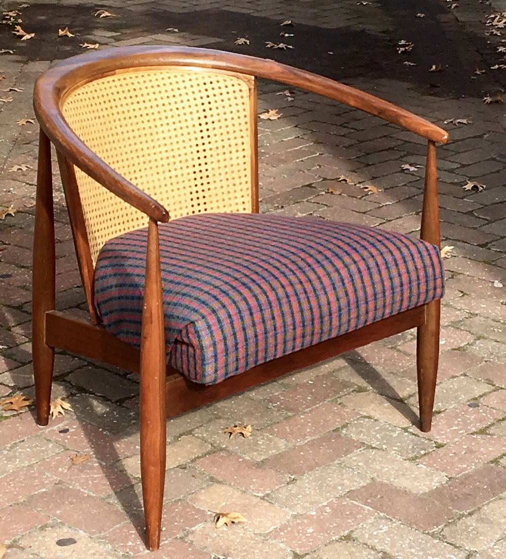 Cane Back Barrel Chair