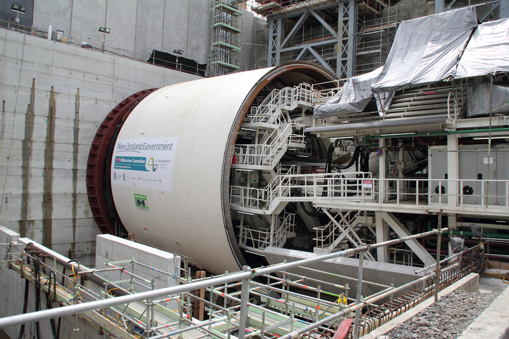 Waterview tunnel boring machine [Wikimedia]
