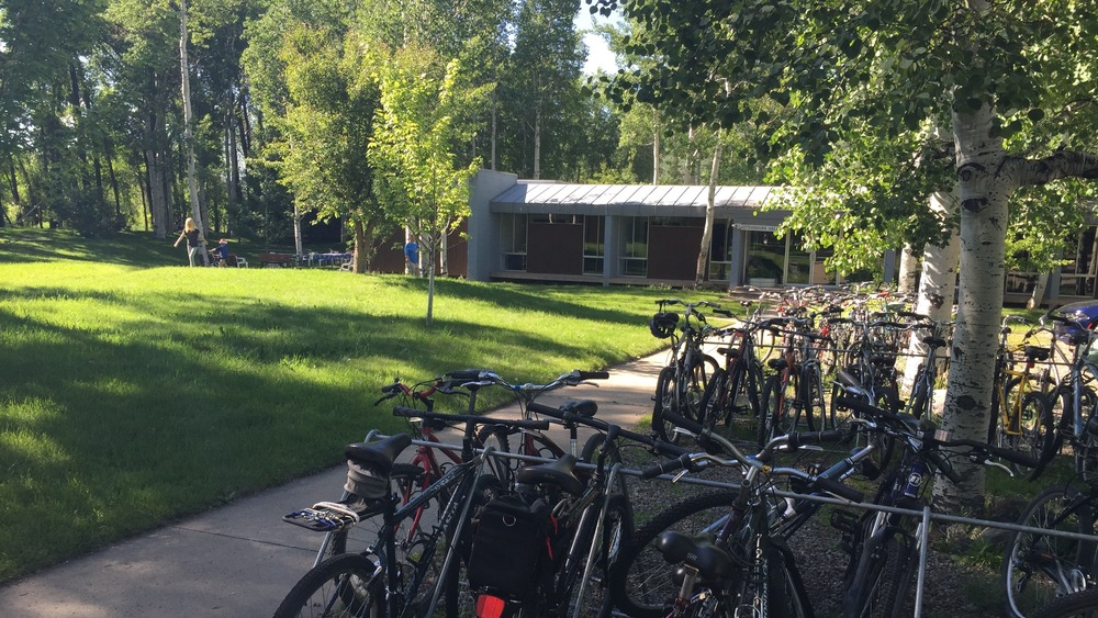 Bikes, at the Aspen Center for Physics. Image: Richard Easther