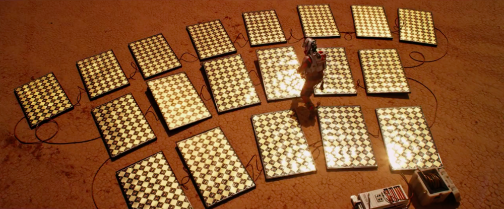 Solar panels for the Mars Rover.