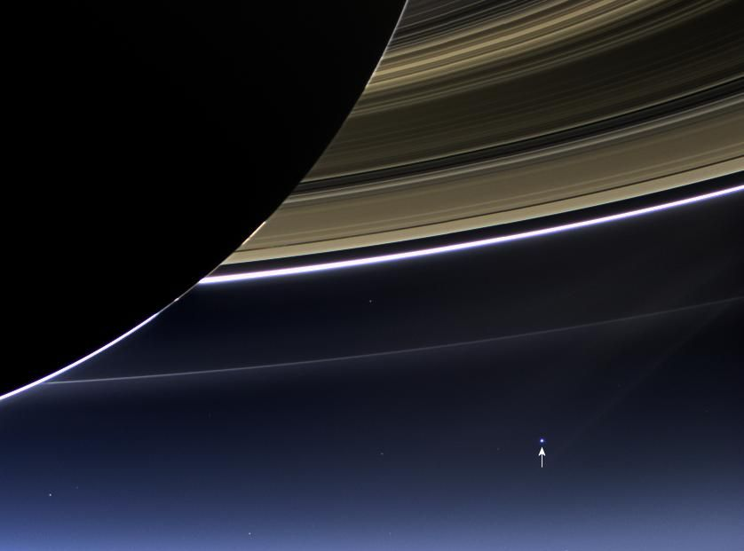 The earth, as seen from Saturn.