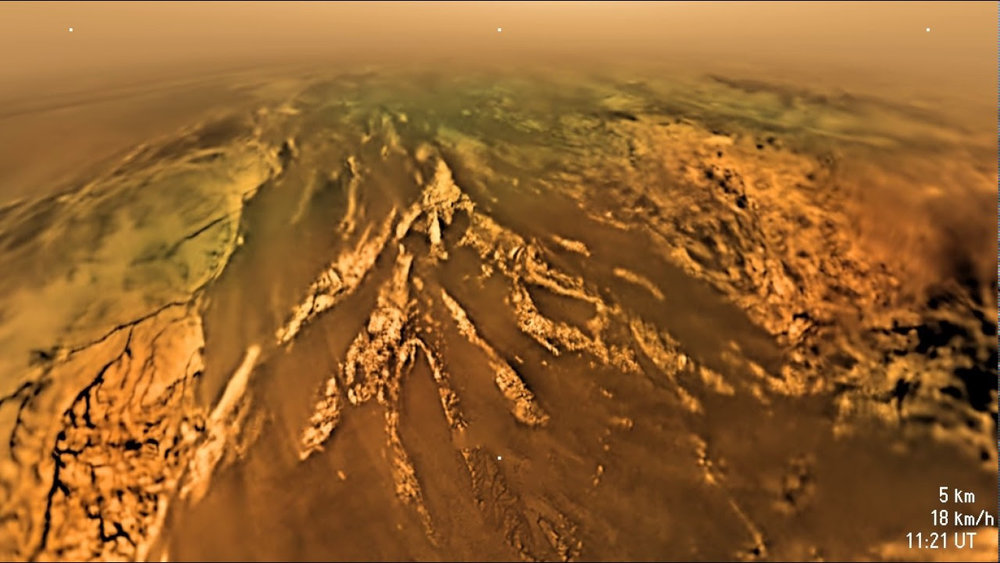 The surface of Titan, from the Huygens lander.