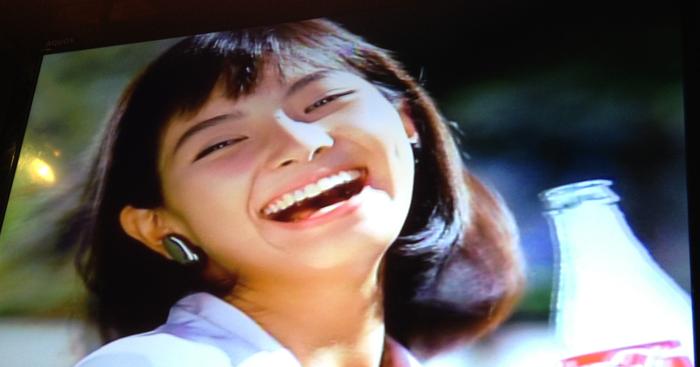 Inte 4k-TV, men en fin gammal reklamfilm från japanska Coca-Cola.