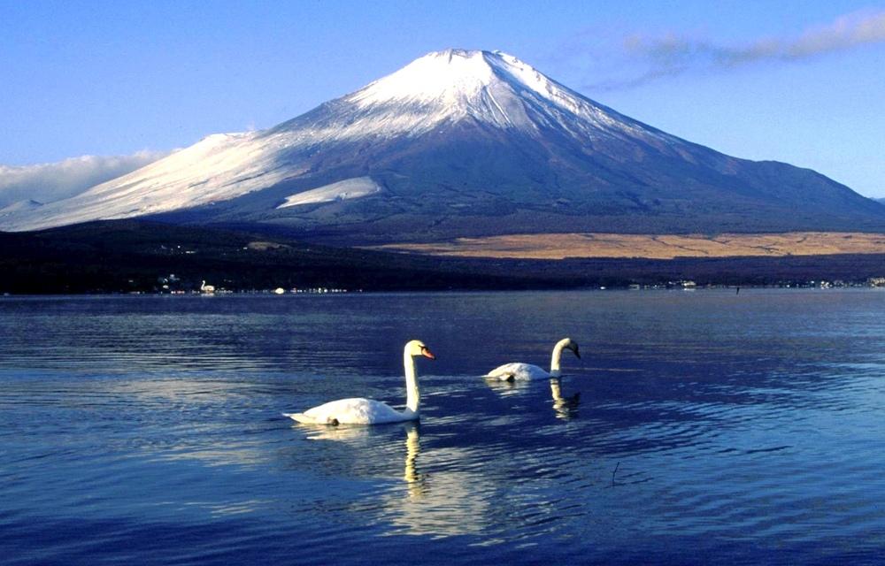Fuji är en mycket vacker vulkan tio mil sydväst om Tokyo. Man förstår varför den blivit något av en symbol för landet. Numera även på världsarvslistan.
