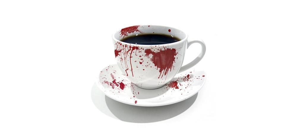 OK att 70-årige maken hade lite kuckelimuck vid sidan av med någon tant, men det var väl lite väl grovt att slå ihjäl honom med en kaffekopp?