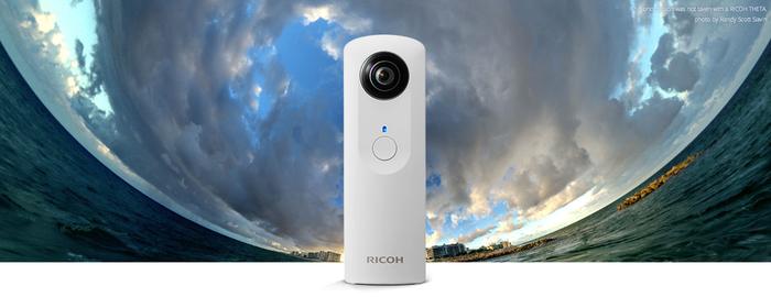 Ricohs Theta tar bilder i 360 grader. Styrs via din iPhone.