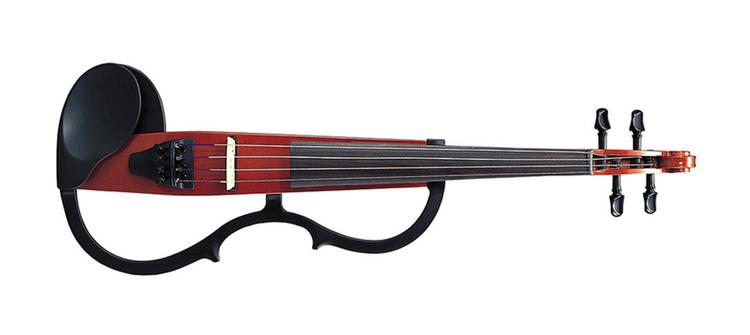 """Yamaha är världens största tillverkare av musikinstrument. Här deras revolutionerande """"tysta"""" violin.. Många lyhörda lägenheter i Japan.."""