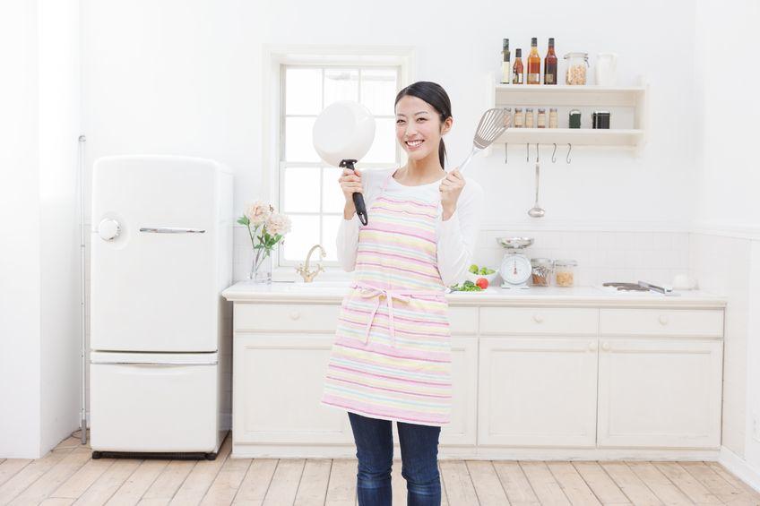 Så här glada är absolut inte alla japanska hemmafruar, vill jag påstå..