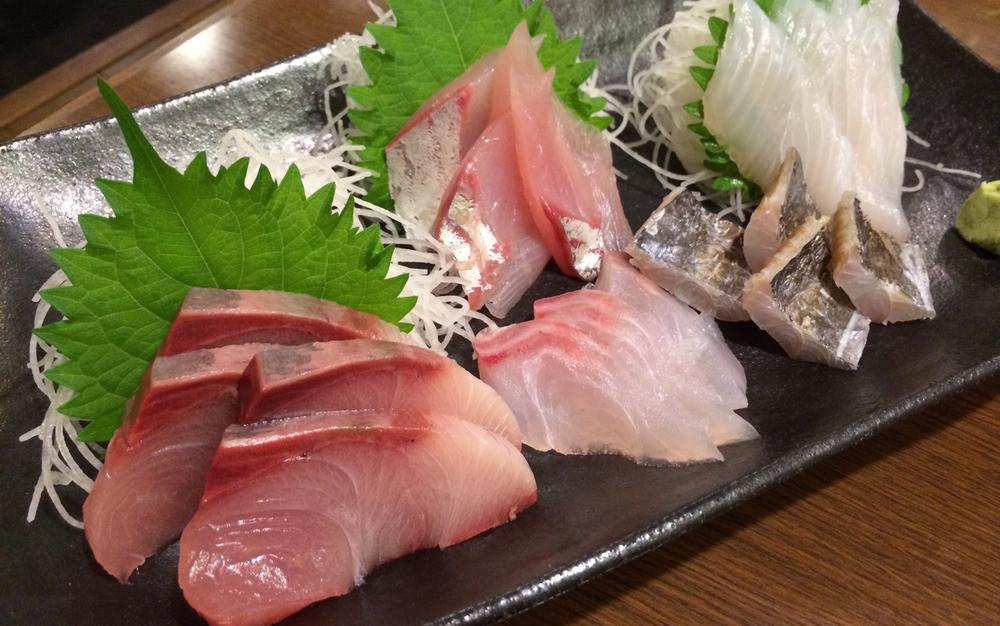 Kvällens höjdpunkt var den här fina tallriken sashimi..