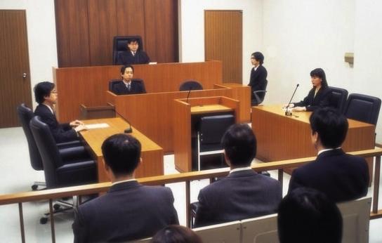 Snajdig inredning i typisk japansk domstol.